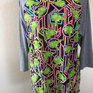 LuLaRoe Tops - Lularoe Kermit the Frog Randy Tshirt